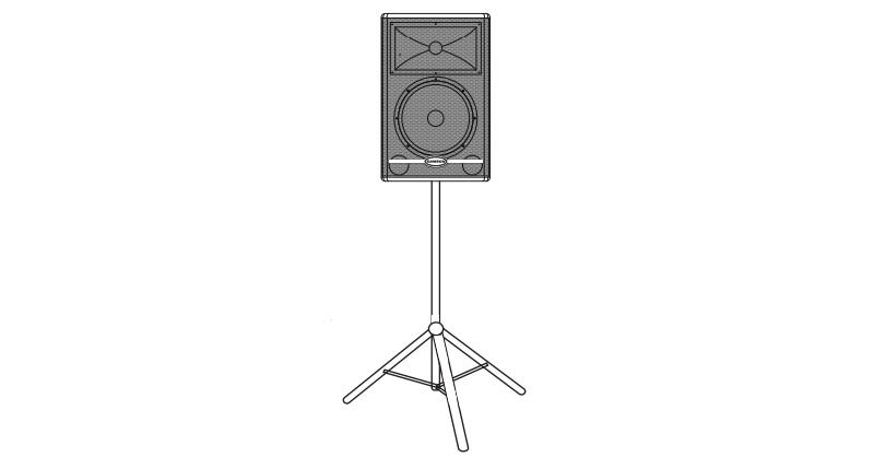 Loa biểu diễn chuyên dụng dành cho ca sĩ SAMSON RS12 HD